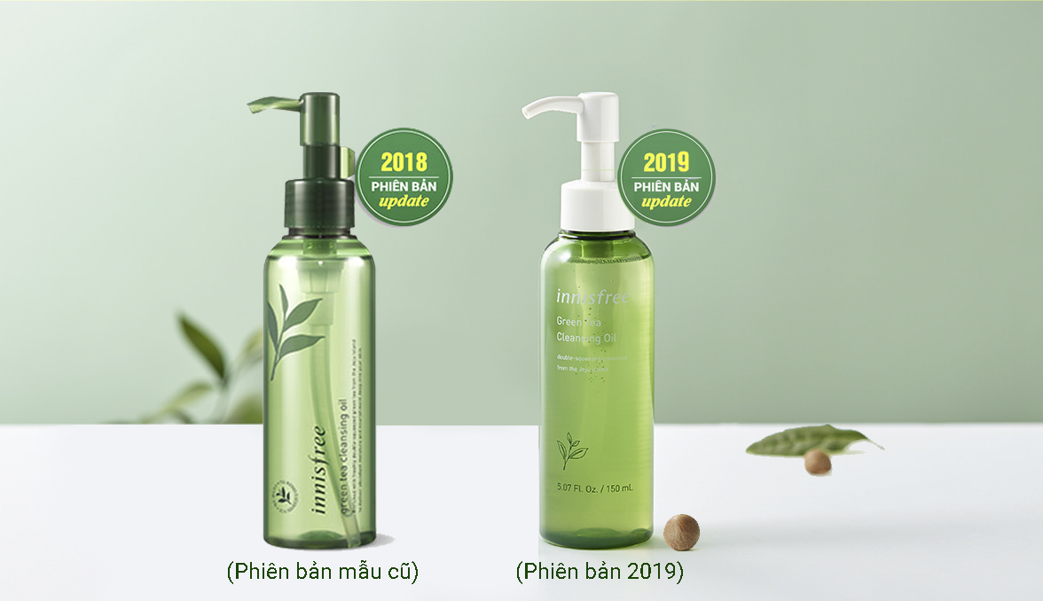 Dầu Tẩy Trang Trà Xanh Innisfree Green Tea Cleansing Oil 150ml 3
